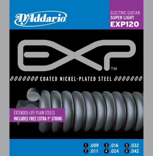 D'Addario EXP120 Coated Electric Guitar Strings,