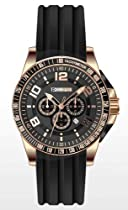 Technosport Stainless Steel Chronograph TS410-10 Black Silicone Watch