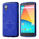 Google LG Nexus 5 Cruzerlite Bugdroid Circuit Case For LG Nexus 5 - BLUE