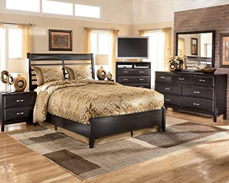 Signature Design by Ashley Kira Bedroom Set with Queen Bed, Nightstand, Dresser and Mirror