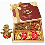 Chocholik Awesome Cocktail Dry Fruit Party & Chocolate Gift Box With Ganesha Idol - Chocholik Dry Fruits