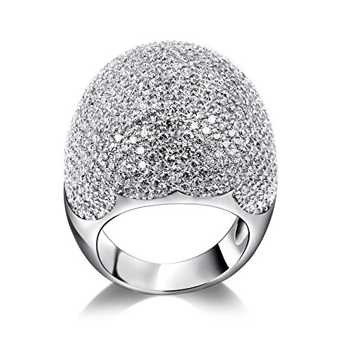 K-Design : Latest Design Luxury Women Finger Ring Anniversary Gift For Love Romantic Style Pave Setting Aaa Cubic Zirconia