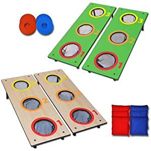 Go Pong 3 Hole CornHole Washer Toss Tailgate Game