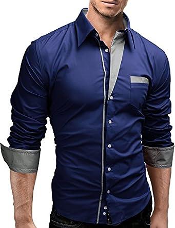 MERISH Hemd Slim Fit 5 Farben Größen S-XXL 02 H.Blau (New Blue) S