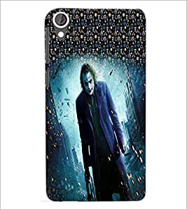 PrintDhaba Joker D-3994 Back Case Cover for HTC DESIRE 820 (Multi-Coloured)