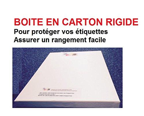 200 étiquettes 210 x 148.5 mm - soit 100 feuilles A4- planche A4 avec 2 étiquettes autocollantes BOITE EN CARON RIGIDE Réf UNIVERS GRAPHIQUE UGCMO1-100