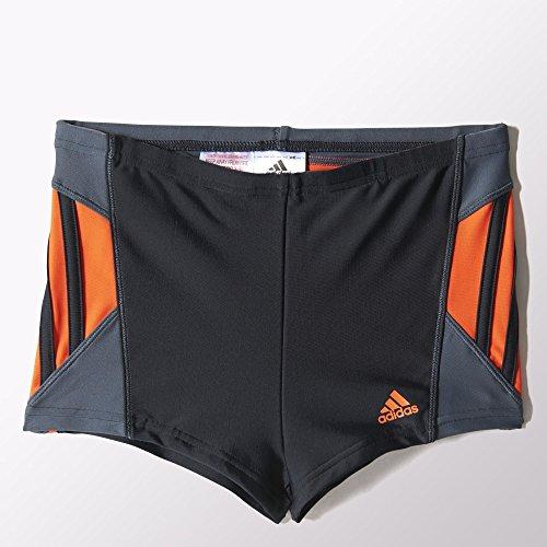 adidas Jungen Badeanzug Inspiration Boxer, Black/Semi Solar Red, 152, S22860
