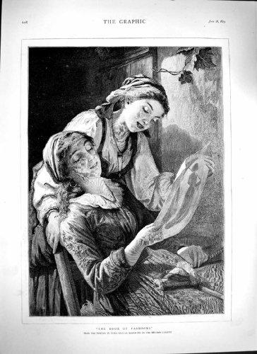 1879 Bianchi Belgain Gallery Art Ladies Fashion Book