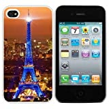 Cocoz®design Series Paris Night View Eiffel Tower Image(white Pc+pearlescent Aluminum) for Iphone 4 & 4s Fs-00317... by CocoZ