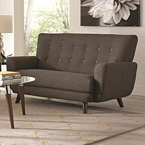 Coaster 504775 Home Furnishings Love Seat, Charcoal