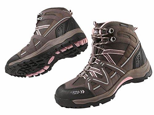 Damen Trekkingschuhe Wanderschuhe Trekking Schuhe Gr. 38 Rosa/Braun Atmungsaktiv Wasserdicht