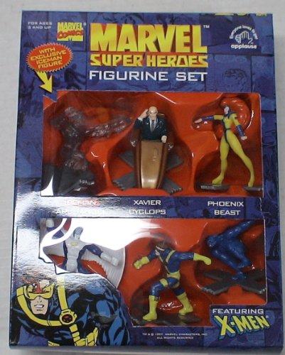 Picture of Applause Marvel Comics X-men 6 Figure Pvc Set with Xavier, Cyclopes, Phoenix, Beast, Archangel, Iceman (B003KWRGWK) (X-Men Action Figures)
