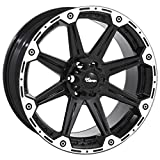 """Dick Cepek Torque Flat Black Wheel with Machined Accents (20x9""""/6x135mm) 30 millimeters offset"""