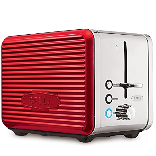 BELLA LINEA 2 Slice Toaster with Extra Wide Slot, Color Red (Black N Decker Toast R Oven compare prices)