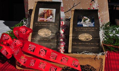 Camano Island Coffee Roasters Organic Shade Grown Fairly Traded Double Delicious Box - Coffee Gift Box (2 Full, 1lb. - 16oz Bags of Certified Organic, Shade-grown, Coffee).