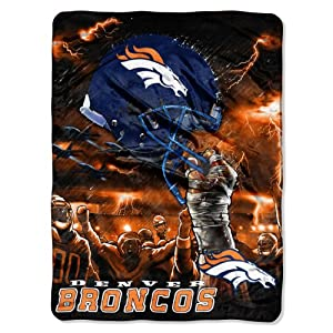 NFL Denver Broncos 60-Inch-by-80-Inch Plush Rachel Blanket, Sky Helmet Design by Northwest