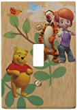 Amerelle D5201T Disney Licensed My Friends Tigger and Pooh Single Toggle Wallplate, Yellow