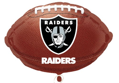 "Anagram International Oakland Raiders Flat Party Balloons, 18"", Multicolor"