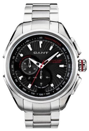GANT Milford W10582 - Reloj de caballero de cuarzo, correa de acero inoxidable color plata