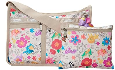 LeSportsac Deluxe Everyday Charm 2369 Shoulder Bag,Tropical Zoo,One Size