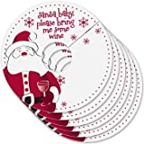 Christmas Party Personalized Wine Tags - Wine Glass ID - Wine Glass Markers - Holiday Glass Charms & Tags - MY GLASS TAGS SANTA BABY - Set of 24