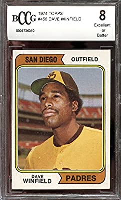 1974 topps #456 DAVE WINFIELD san diego padres rookie card BGS BCCG 8 Graded Card