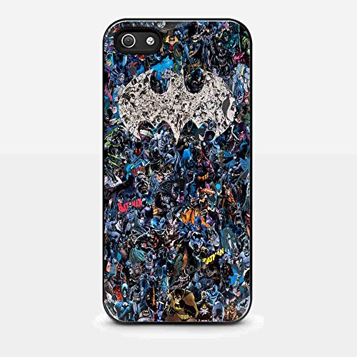 batman logo collage art for iphone and samsung galaxy case at Gotham City Store