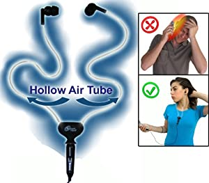 Smart&Safe Hollow Air Tube Hands-free Headset with 3.5mm Jack