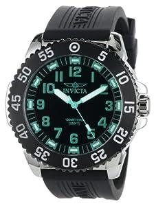 Invicta Men's 1099 Pro Diver Black Dial Polyurethane Watch