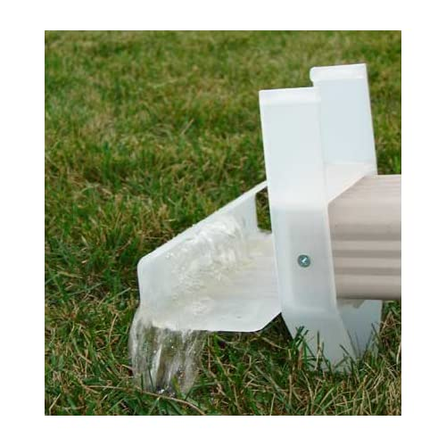 "The Lawn Saver Downspout Water Diffuser Style 2"" x 3"" Horizontal-Made"
