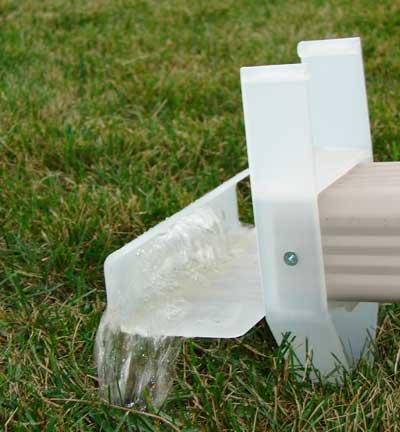 Decorative gutter splash blocks bing images - Rain gutter downspout diffuser ...