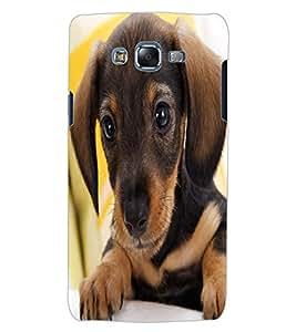 ColourCraft Cute Puppy Design Back Case Cover for SAMSUNG GALAXY J5