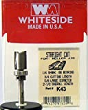 Whiteside Router Bits K43 Keller Straight Bit with 5/8-Inch Large Diameter, 3/4-Inch Cutting Diameter and 1/4-Inch Shank