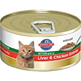 Hill's Science Diet Kitten Healthy Development Liver and Chicken Entree Minced Cat Food, 5.5-Ounce Can, 24-Pack
