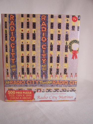 "500 Piece Radio City Matinee 2012 Collectible Edition Sealed!! 13""x19"""