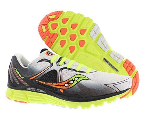 Saucony Men's Kinvara 6 Running Shoe, White/Citron/Orange,10.5 M US (Kinvara 2 compare prices)