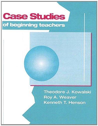 Case Studies of Beginning Teachers