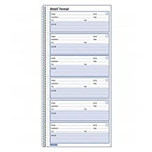 Rediform Detail Voice Mail Log, White, 10.625 x 5.625 Inches, 600 Messages (51113)