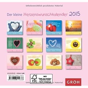 Der kleine Herzenswunschkalender 2015