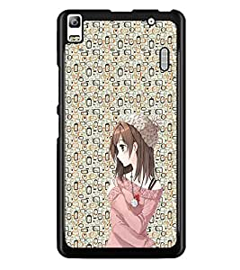 PrintDhaba Cute Girl D-2049 Back Case Cover for LENOVO K3 NOTE (Multi-Coloured)