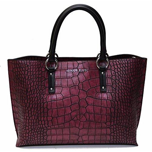 ARMANI JEANS donna borsa shopping 922518 6A711 00176 BORDEAUX UNICA Bordeaux
