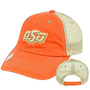 Buy NCAA Oklahoma State Cowboys Garment Wash Mesh Snapback Top of the World Hat Cap by Top of the World