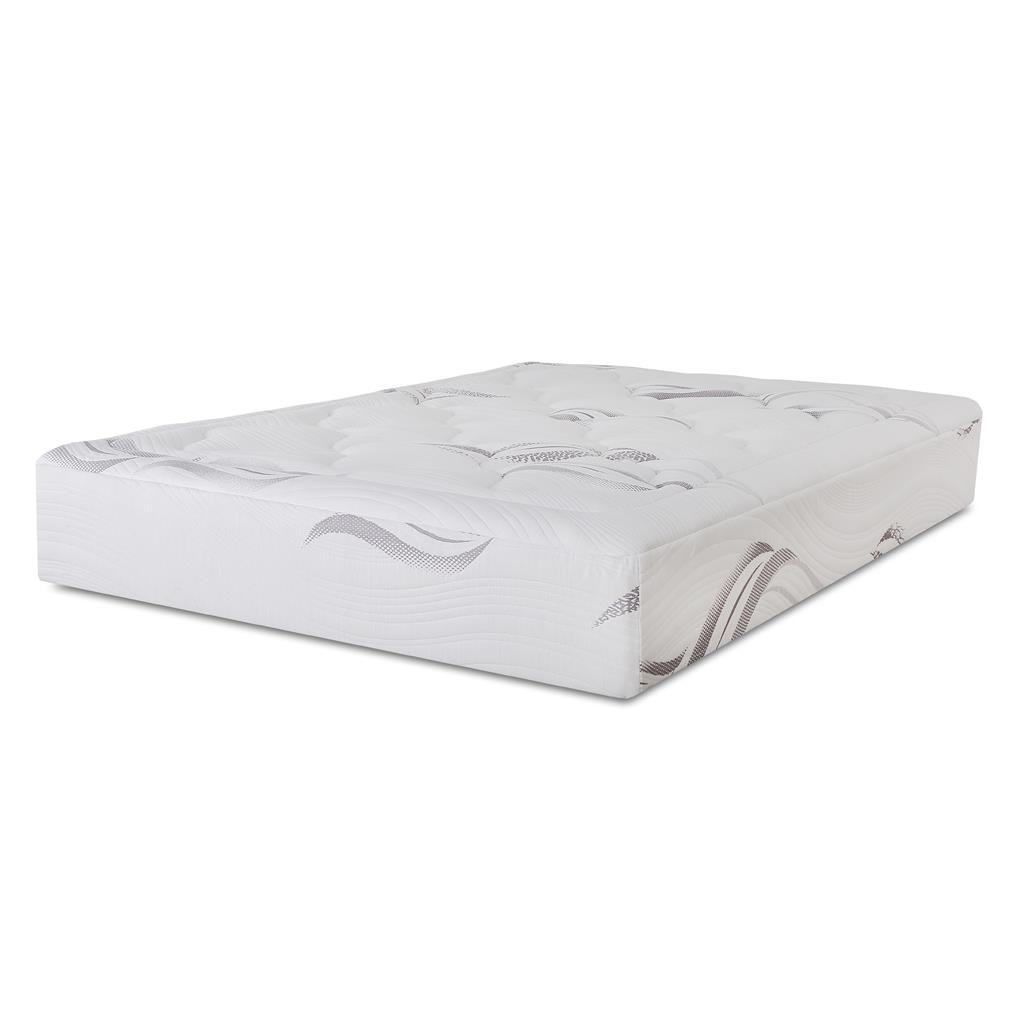 1 inch microfiber quilted to soft knitted jacquard cover, 1 inch Viscolatex  Responsive Foam, 2 inch memory foam, 3 inch comfort foam, & 5 inch  high-density ...