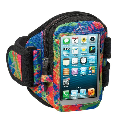 Great Price Armpocket® i-10 armband for iPhone 5s/5c/4 or similar phones and cases up to 5 inches. Splash, Medium Strap Length
