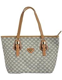 Limit Women's PU Handbag (White, IDB11)