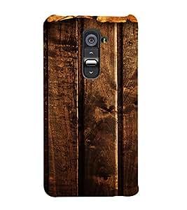 PrintVisa Dark Wooden Pattern 3D Hard Polycarbonate Designer Back Case Cover for LG G2