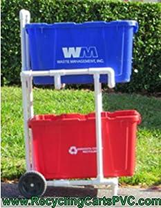 Amazon Com Recycling Cart Florida Weather Proof Won T