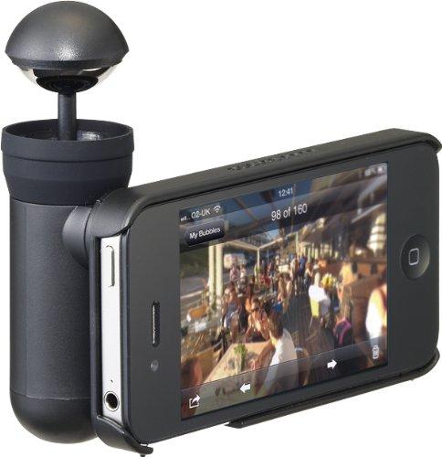 プリンストンテクノロジー BubblePix社製 iPhone 4S/4用360°パノラマ撮影キット bubblescope BUBSCOIP4S
