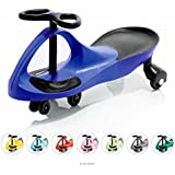 EIGHTBIT Swivel Car Rolling Ride On Car - Indoor / Outdoor - Blue