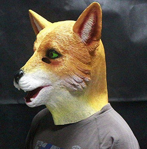 Latex Deluxe Fox Costume Mask Halloween Costume By Crazy Halloween Mask